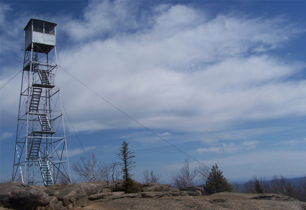 fire tower atop hadley mountain