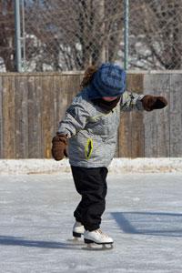 a girl ice skating