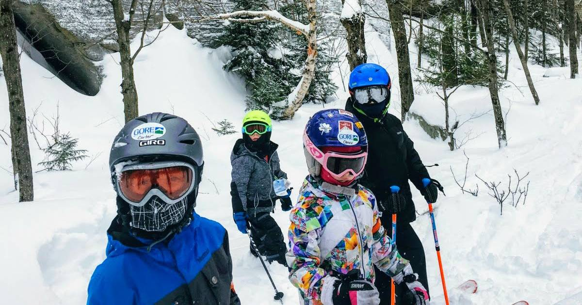 group of glade skiers