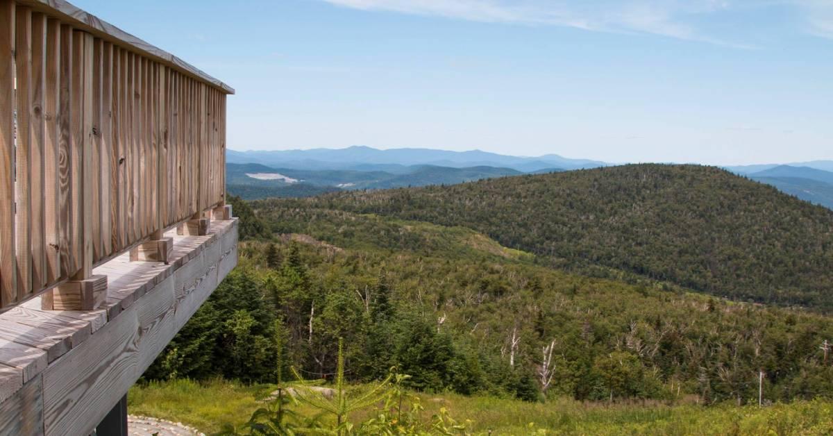 wooden platform overlooking view