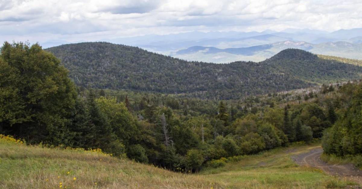 view of mountains in the distance