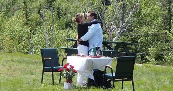 wedding at gore mountain in summer