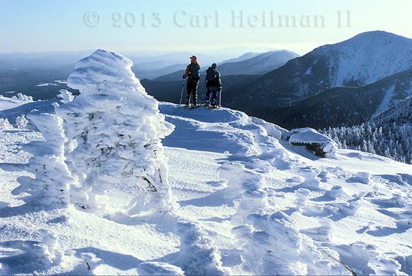Adirondack winter hiking at gothics