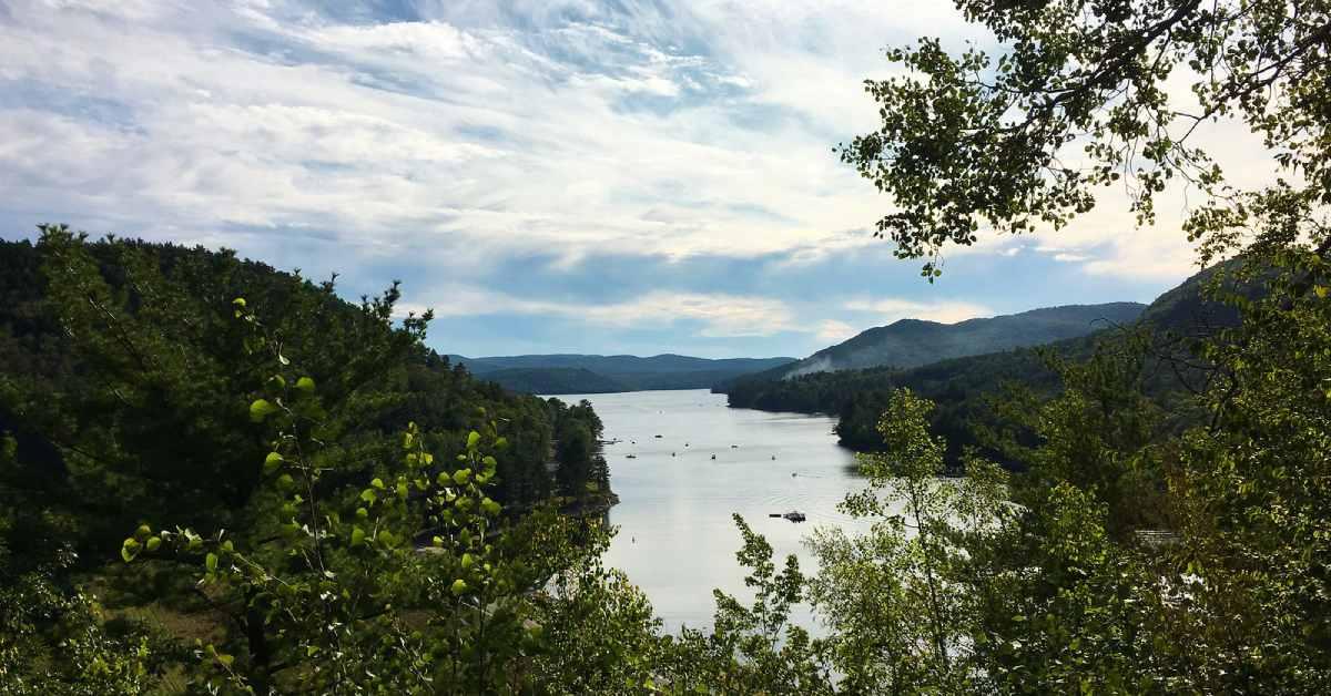 great sacandaga lake from a scenic overlook
