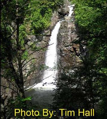 a very tall waterfall