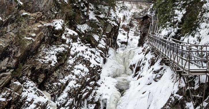 high falls gorge in winter