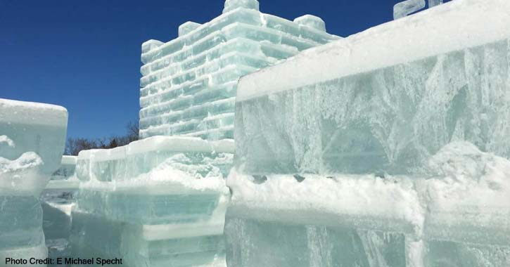 ice palace made of blocks