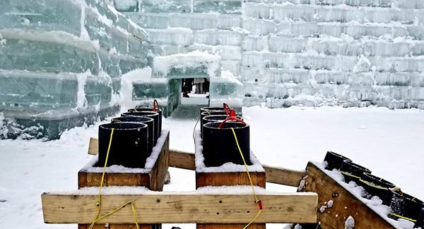 tools used to create an ice palace
