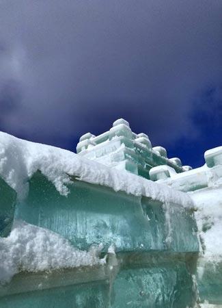 snow on ice palace bricks