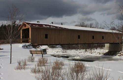 jay bridge in winter