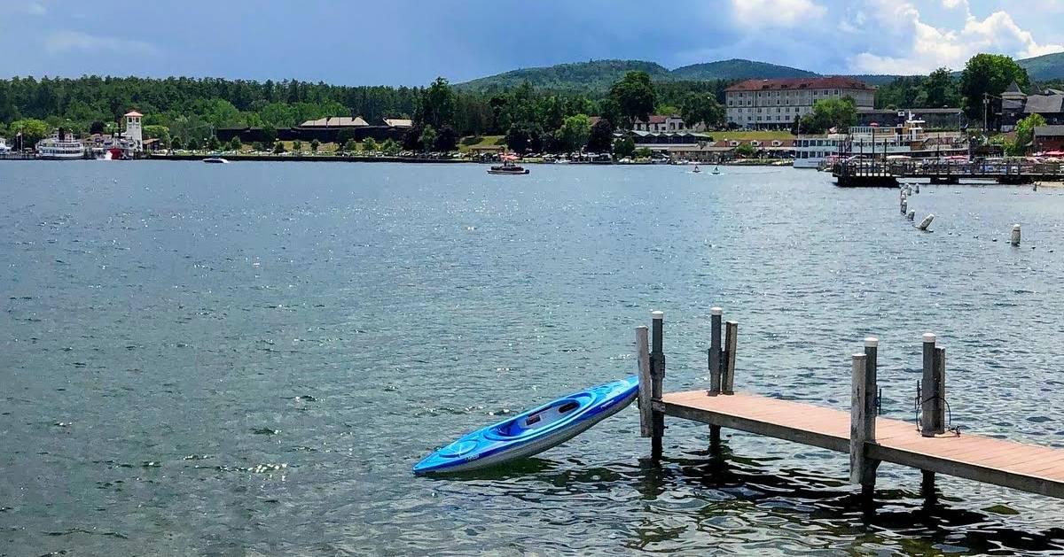 kayak at a dock