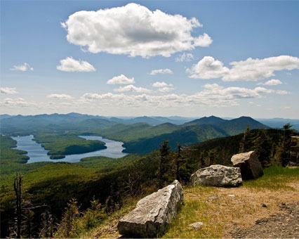 A view in Lake Placid, NY
