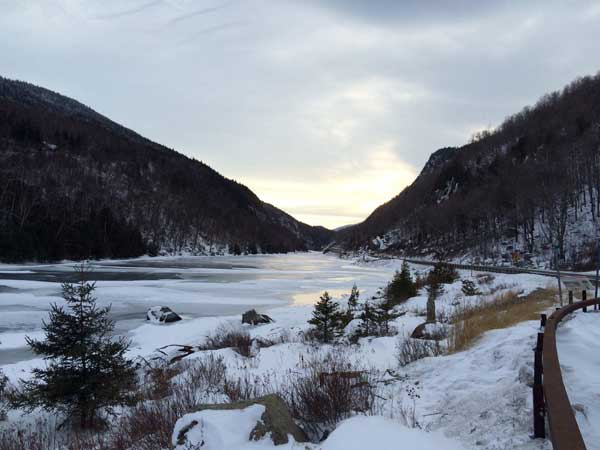 Lower Cascade Lake in Winter