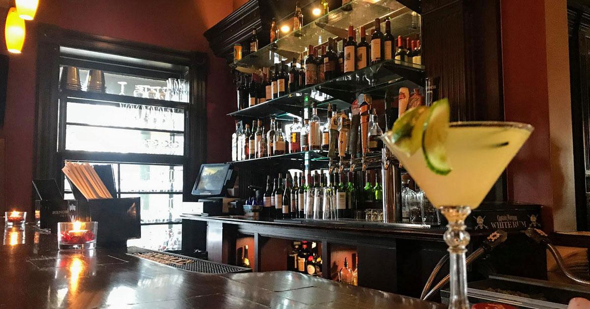 martini on bar