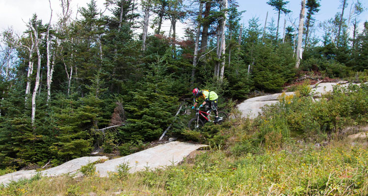 mountain biking on gore mountain