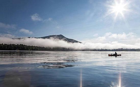 blue mountain lake mountains