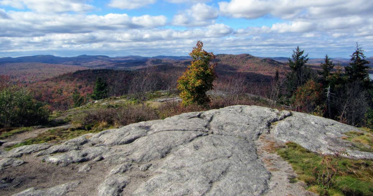 mountain top in the fall