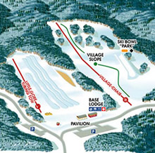 trail map of the North Creek Ski Bowl