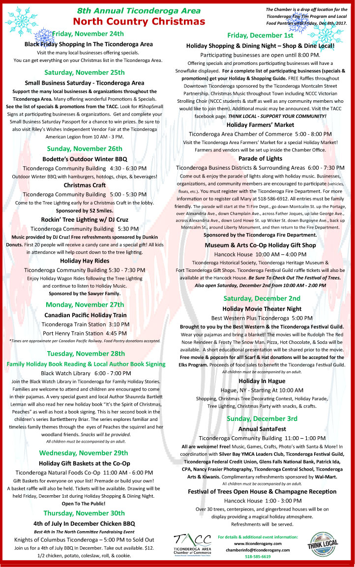 north country christmas flyer
