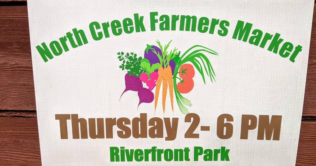 North Creek Farmers Market sign