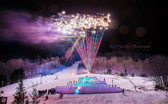 winter carnival fireworks in old forge