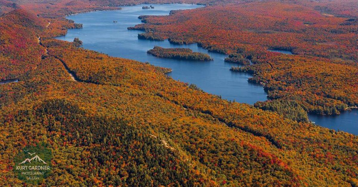 aerial view of Old Forge
