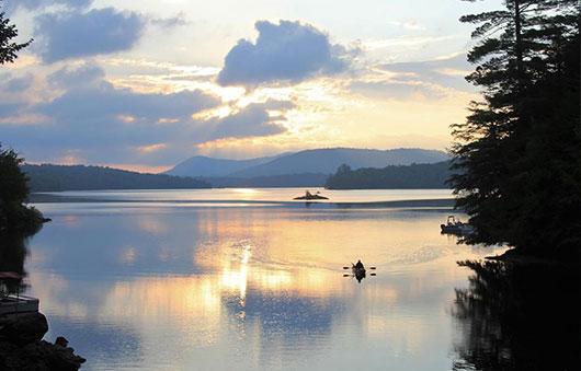 paddler on a lake