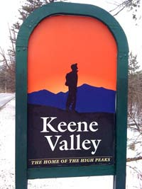 Keene Valley Sign