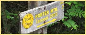 porter trail sign