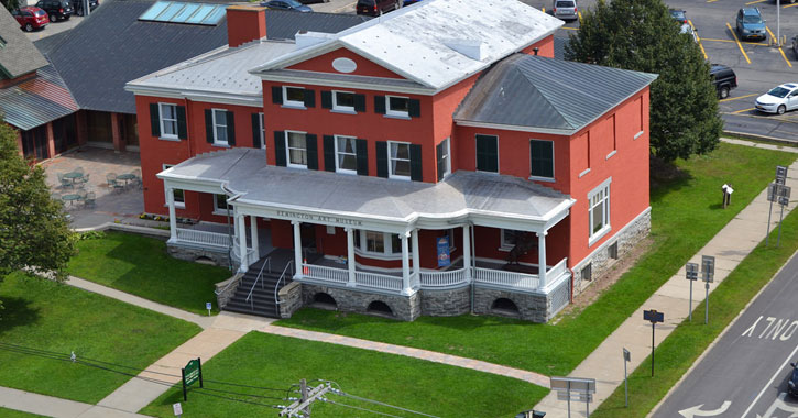 aerial view of the Remington Art Museum