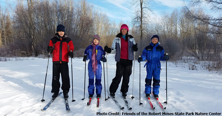 cross country skiers in winter