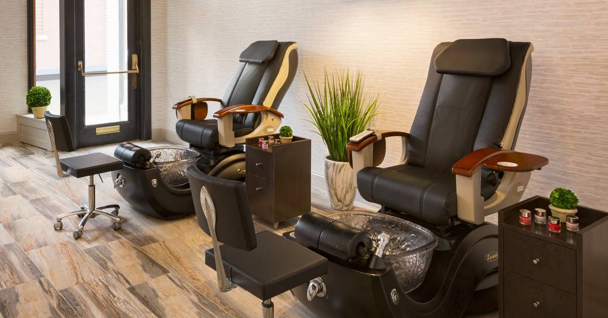 pedicure chairs in spa