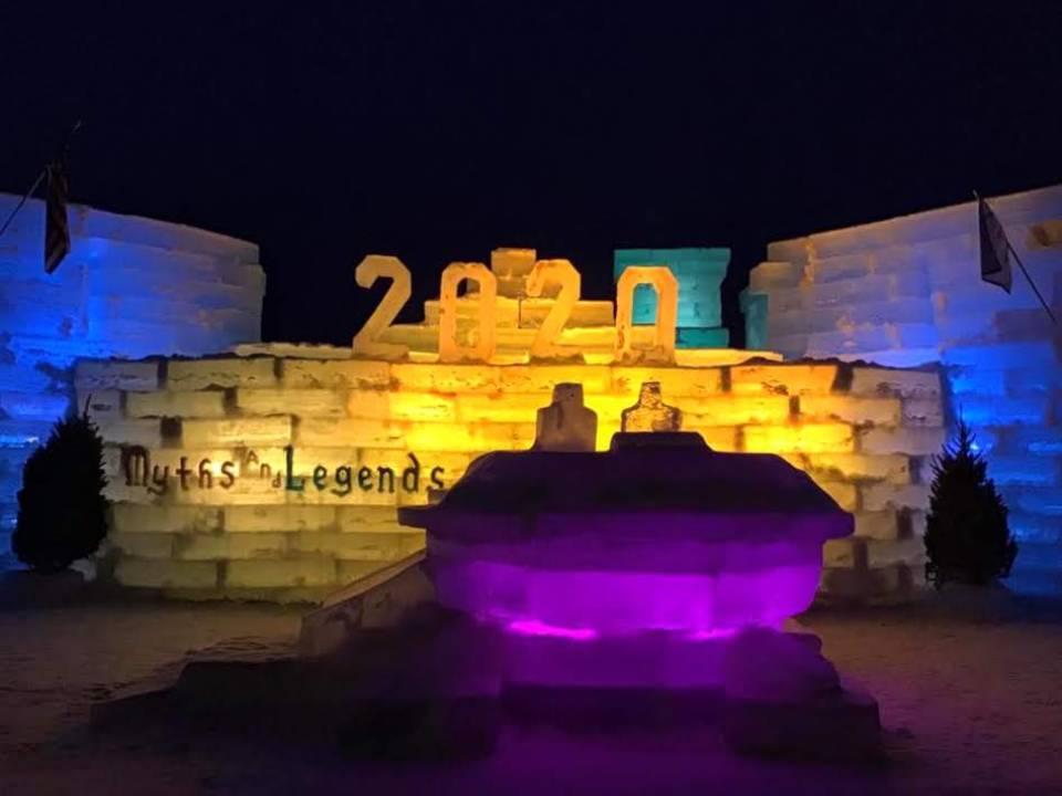 2020 Ice Palace at night