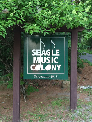 seagle music colony sign