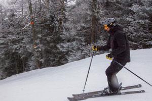 skier in winter