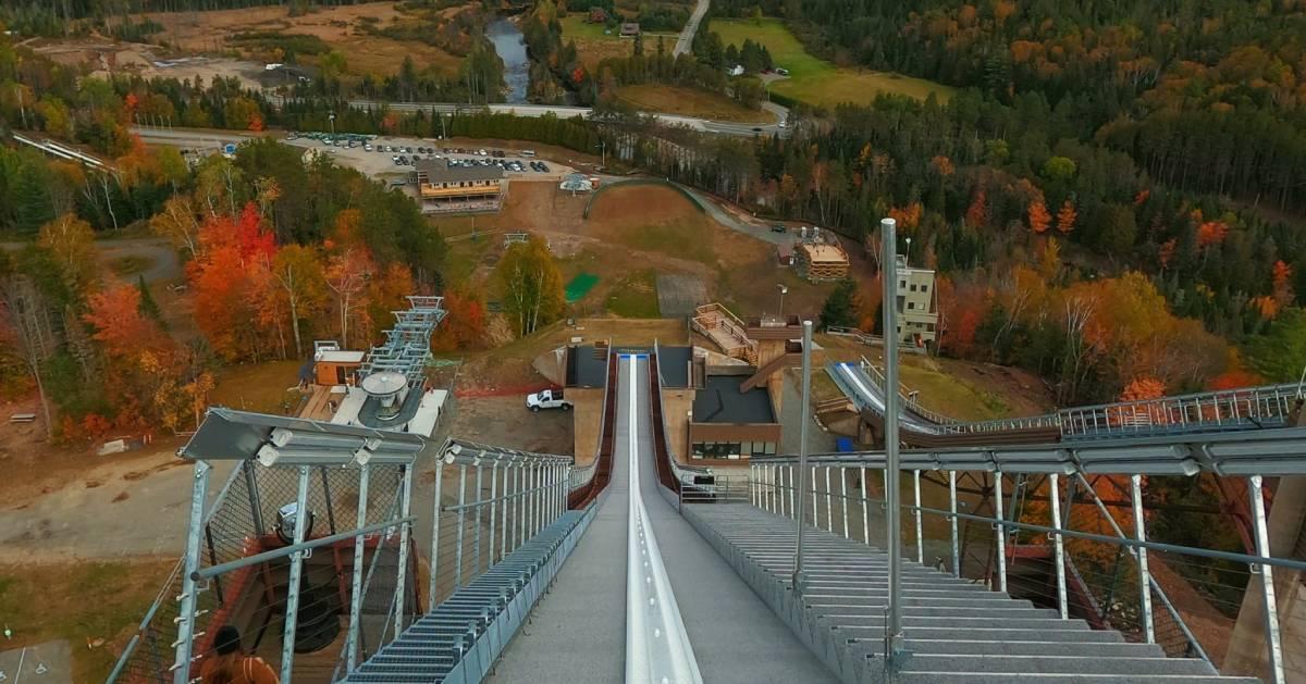 Olympic Ski Jump in the fall