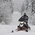 snowmobiler in winter