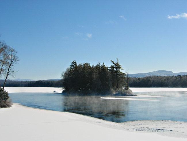 Spider Island Adirondack Winter