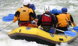 Team going White Water Rafting