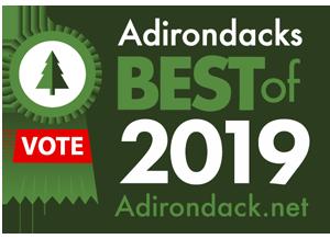 2019 best of the adirondacks badge with vote ribbon