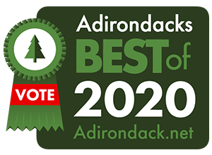 2020 best of the adirondacks badge with vote ribbon