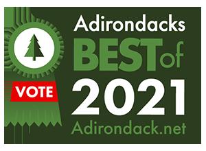 2021 best of the adirondacks badge with vote ribbon