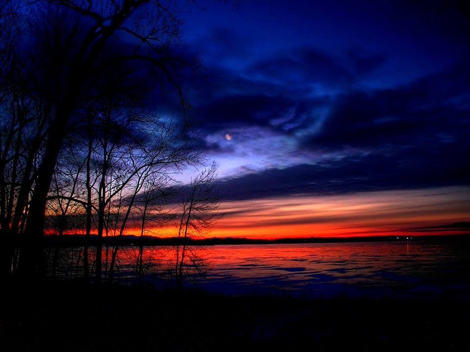 ADK Pic of the Week Rob Orr: Sunset Lake Champlain