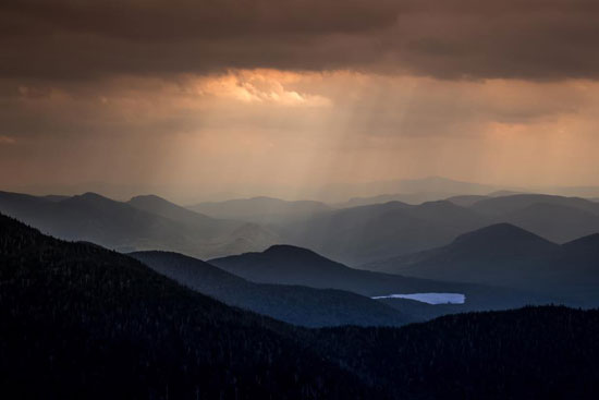 sunrise on sixth lake