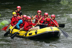 whitewater rafting in fall