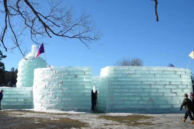 winter ice castle