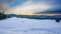 winter landscape in lake placid ny