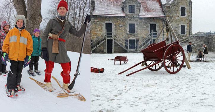 outdoor winter activities at fort ticonderoga