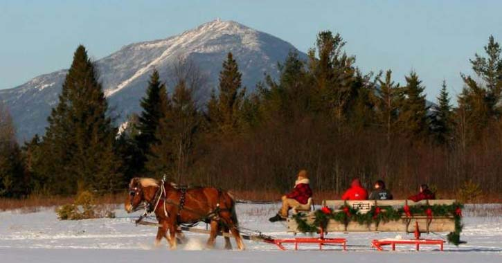 sleigh ride during winter