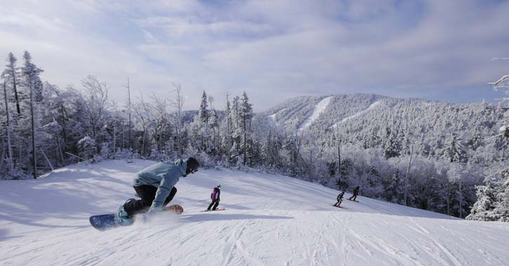 snowboarders at gore mountain